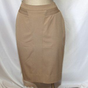 Designer pencil skirt in beige